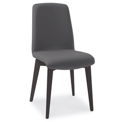Mia Anthracite Modern Dining Side Chair by Pezzan