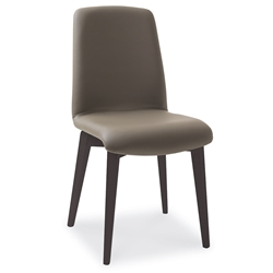 Mia Anthracite + Taupe Modern Dining Side Chair by Pezzan