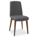 Mia Walnut + Anthracite Modern Dining Side Chair by Pezzan