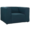 Miami Modern Dark Blue Fabric Arm Chair