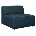 Miami Modern Dark Blue Fabric Armless Chair