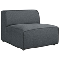 Miami Modern Gray Fabric Armless Chair