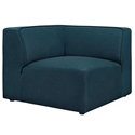 Miami Modern Dark Blue Fabric Corner Chair
