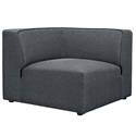 Miami Modern Gray Fabric Corner Chair