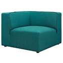 Miami Modern Teal Blue Fabric Corner Chair