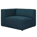 Miami Modern Dark Blue Fabric Left Facing Chair