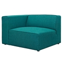 Miami Modern Teal Blue Fabric Left Facing Chair