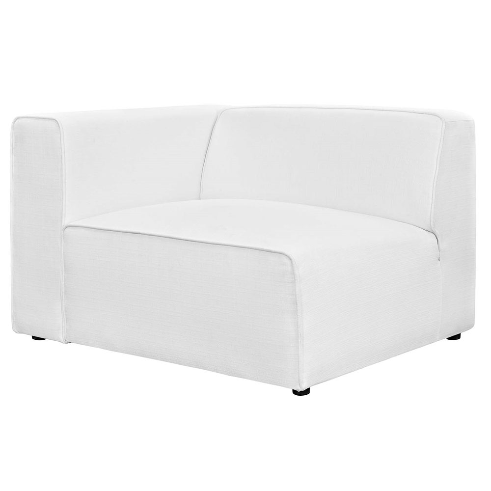Miami Modern White Fabric Left Facing Chair