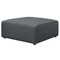 Miami Modern Gray Fabric Ottoman