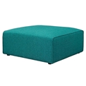 Miami Modern Teal Fabric Ottoman