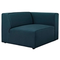 Miami Modern Dark Blue Fabric Right Facing Chair