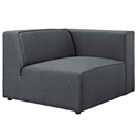 Miami Modern Gray Fabric Right Facing Chair