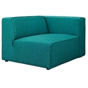 Miami Modern Teal Blue Fabric Right Facing Chair