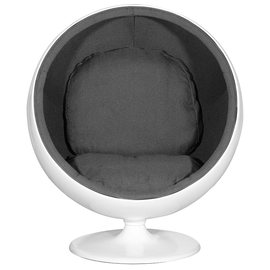 Bon Mib Chair In Black; Mib Modern Round Lounge Chair ...