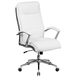 Mica Modern High Back White Office Chair