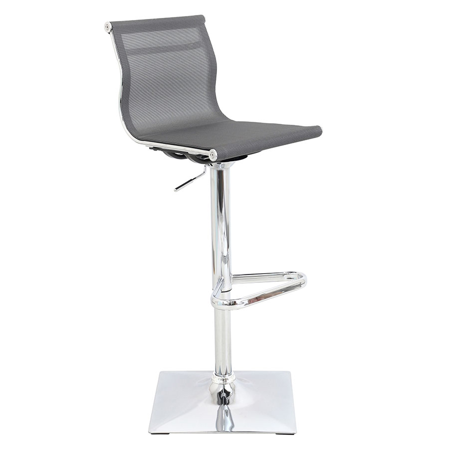 Midland Silver Modern Adjustable Stool