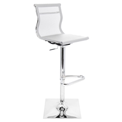Midland White Modern Adjustable Stool