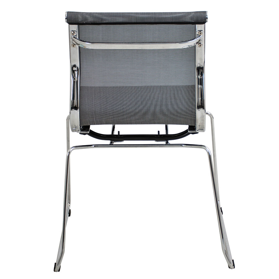 Midland Silver Mesh + Polished Metal Contemporary Stacking Side Chair
