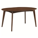 Milam Modern Walnut Oval Extension Dining Table