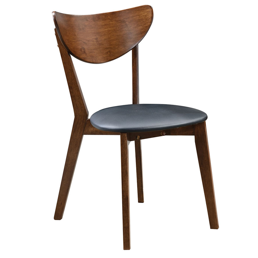 Milam Modern Side Chair with Black Leatherette