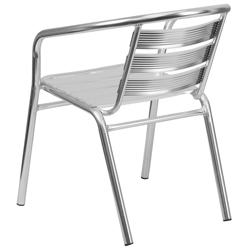 ... Milan Modern Heavy Duty Outdoor Chair   Back View