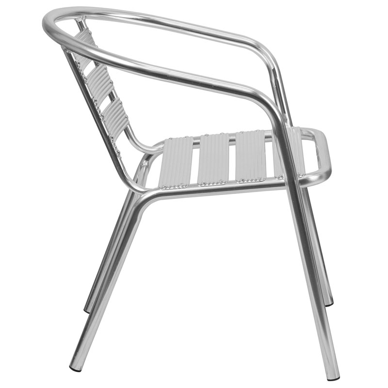 ... Milan Modern Heavy Duty Outdoor Chair   Side View ...