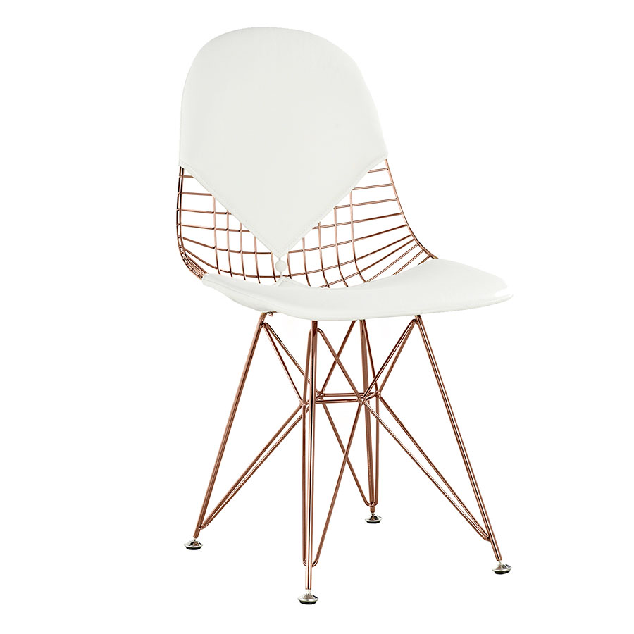 Mildred White + Rose Modern Side Chair