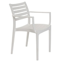 Milena White Modern Stacking Arm Chair