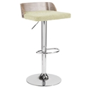 Millenia Modern Green Adjustable Height Stool