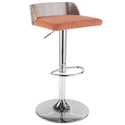 Millenia Modern Orange Adjustable Height Stool