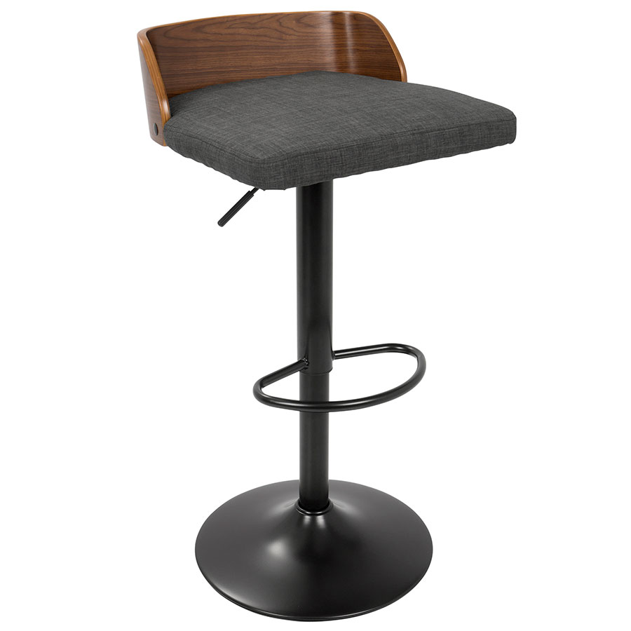 Millenia Modern Charcoal Adjustable Height Stool