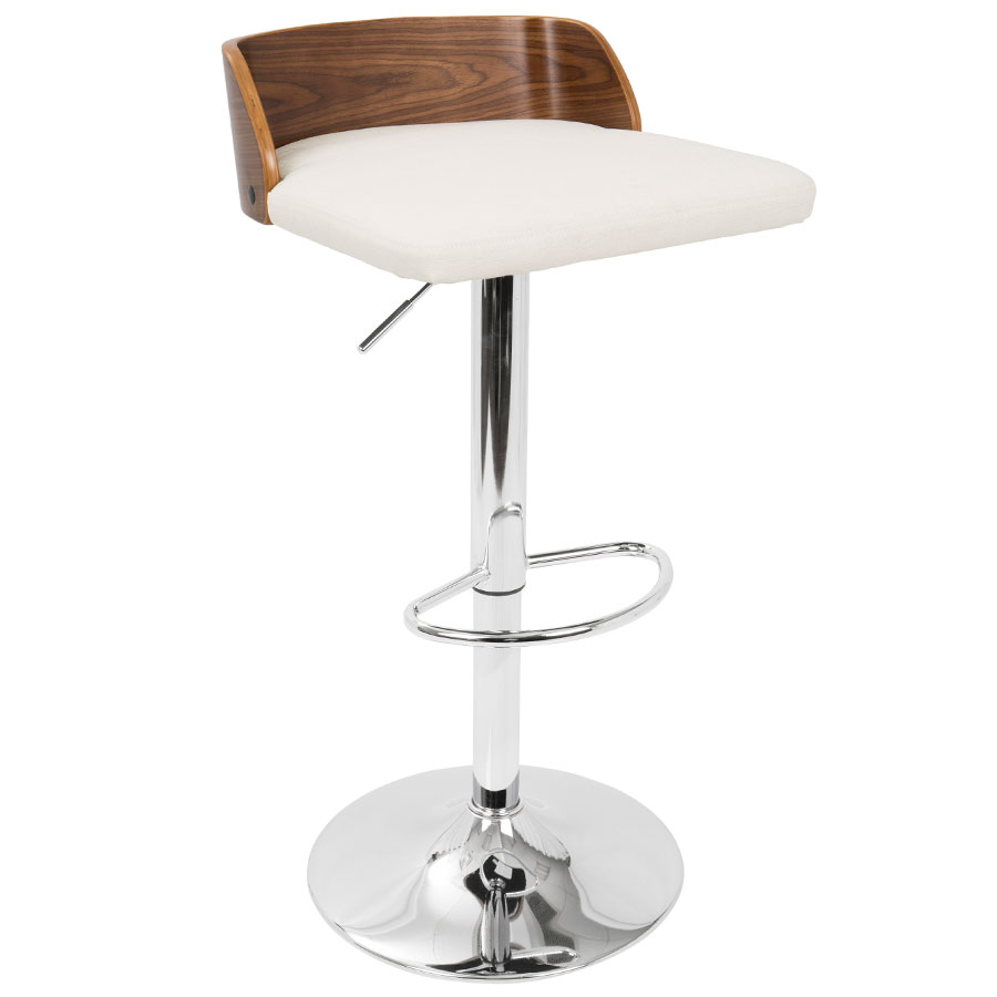 Millenia Modern Cream Adjustable Height Stool