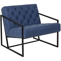 Millennia Modern Blue Tufted Lounge Chair