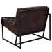 Millennia Modern Brown Tufted Lounge Chair - Back View