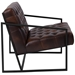 Millennia Modern Brown Tufted Lounge Chair - Side View