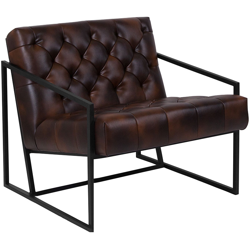 Millennia Modern Brown Tufted Lounge Chair