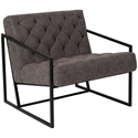 Millennia Modern Dark Gray Tufted Lounge Chair
