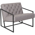 Millennia Modern Light Gray Tufted Lounge Chair