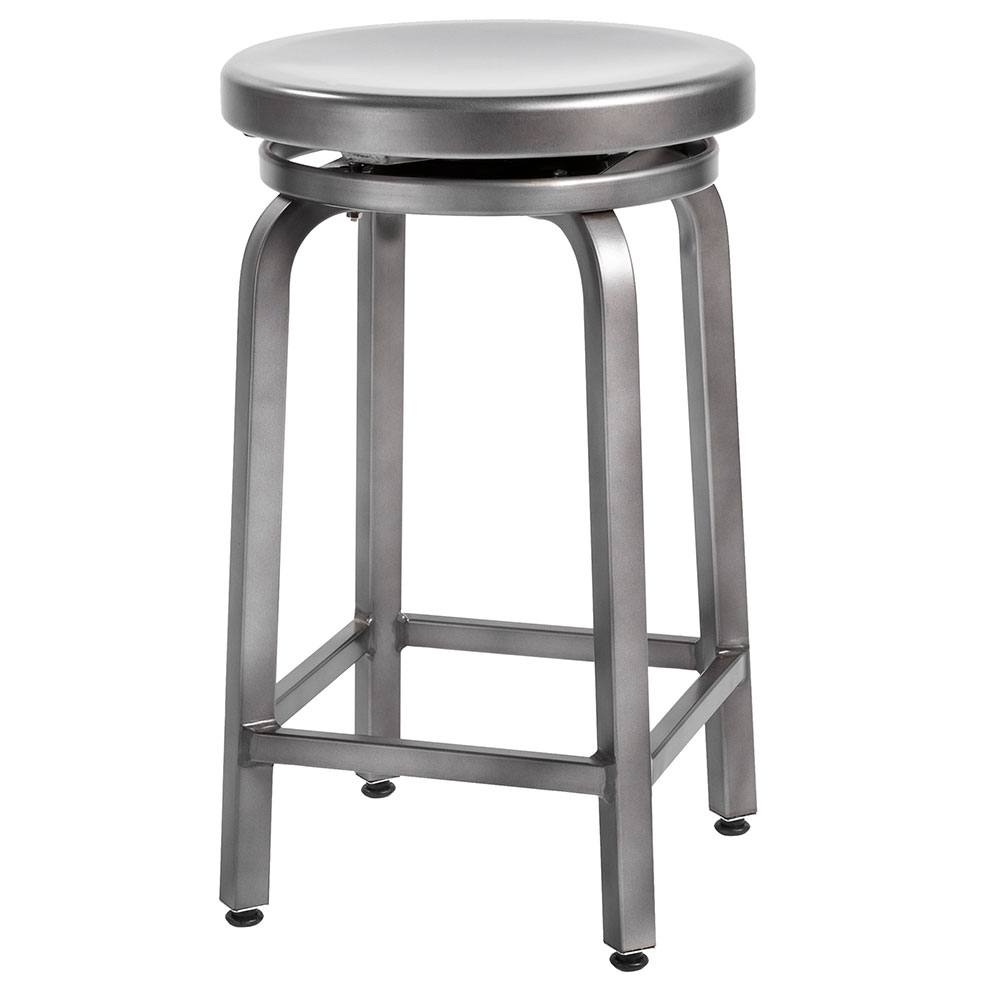 Brushed Nickel Swivel Counter Stool