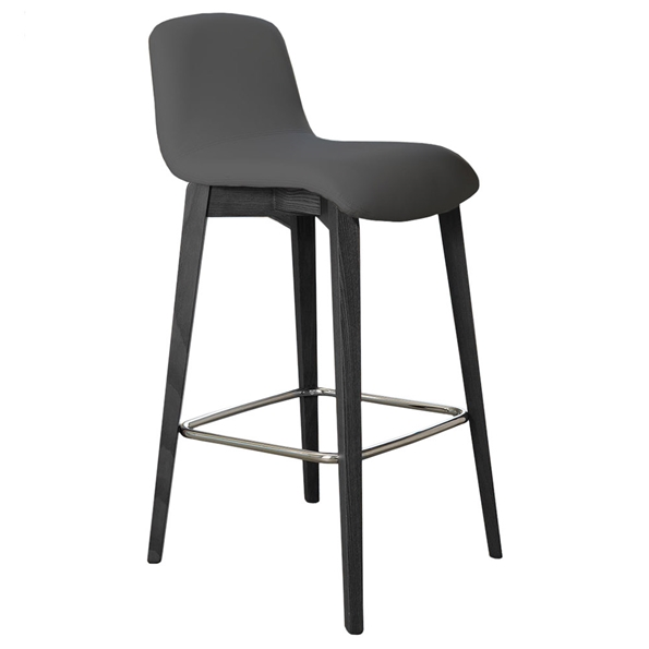Milo Modern Counter Stool in Anthracite by Pezzan
