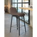 Pezzan Milo Modern Counter Stool in Taupe + Anthracite