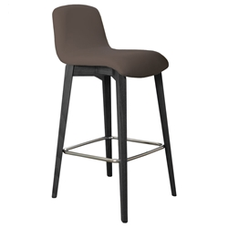 Milo Modern Counter Stool in Taupe + Anthracite by Pezzan