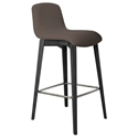 Milo Modern Bar Stool in Taupe + Anthracite by Pezzan