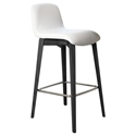 Milo Modern Counter Stool in White + Anthracite by Pezzan