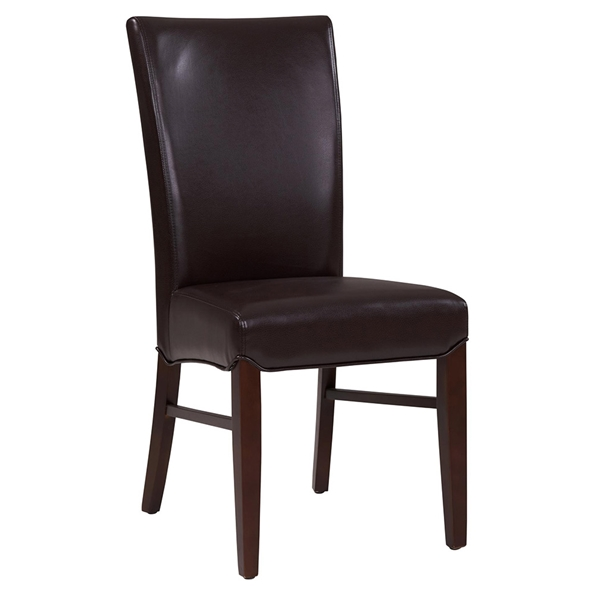 Milt Contemporary Dining Chair in Coffee Bean Bonded Leather
