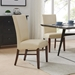 Milt Contemporary Dining Chair in Cream Bonded Leather
