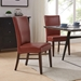 Milt Contemporary Dining Chair in Pomegranate Bonded Leather