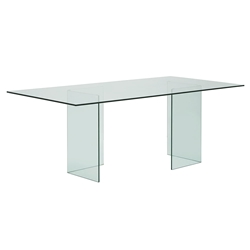 Mimi Clear Glass Modern Dining Table
