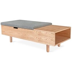 Mimico Contemporary Storage Ottoman in Natural Ash Gus Modern