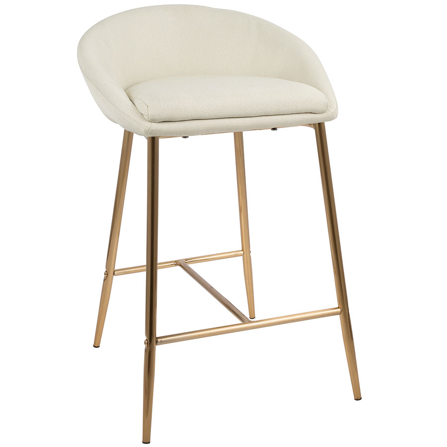 gold counter stools. Call To Order · Minnesota Modern Cream + Gold Counter Stool Stools